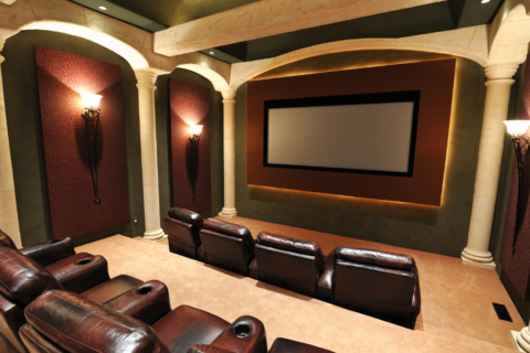 Theater room setup